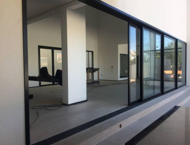 Projeto de Esquadrias de Alumínio Dinaflex na Franca - Esquadria de Alumínio com Vidro