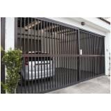 portão de alumínio bronze preço em Itupeva